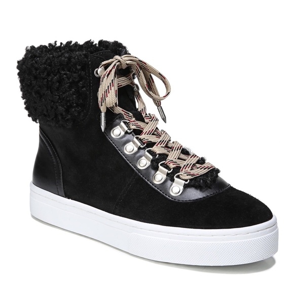 a182996e30aa Sam Edelman Luther Faux Shearling High Top Sneaker